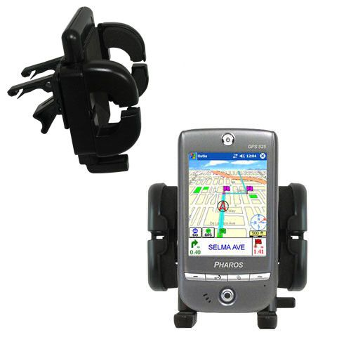 Gomadic Air Vent Clip Based Cradle Holder Car / Auto Mount suitable for the Pharos GPS 525E - Lifetime Warranty