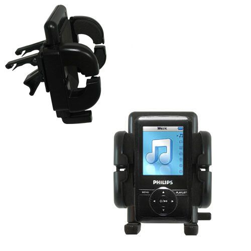 Gomadic Air Vent Clip Based Cradle Holder Car / Auto Mount suitable for the Philips GoGear SA3125/37 - Lifetime Warranty