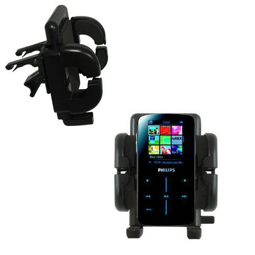 Gomadic Air Vent Clip Based Cradle Holder Car / Auto Mount suitable for the Philips GoGear SA9325/00 - Lifetime Warranty