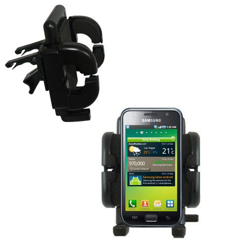 Gomadic Air Vent Clip Based Cradle Holder Car / Auto Mount suitable for the Samsung Galaxy S - Lifetime Warranty