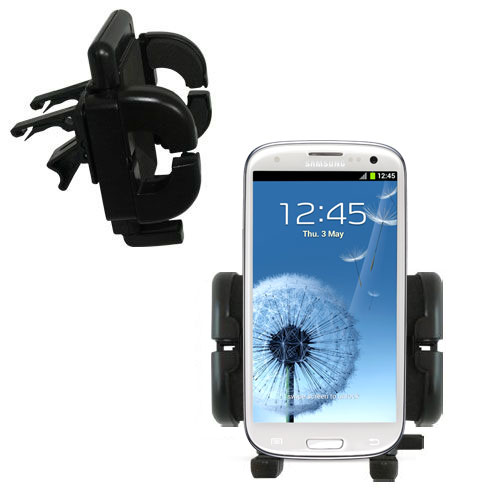 Gomadic Air Vent Clip Based Cradle Holder Car / Auto Mount suitable for the Samsung Galaxy S III - Lifetime Warranty