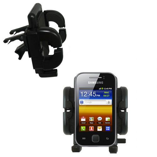 Gomadic Air Vent Clip Based Cradle Holder Car / Auto Mount suitable for the Samsung Galaxy Y - Lifetime Warranty