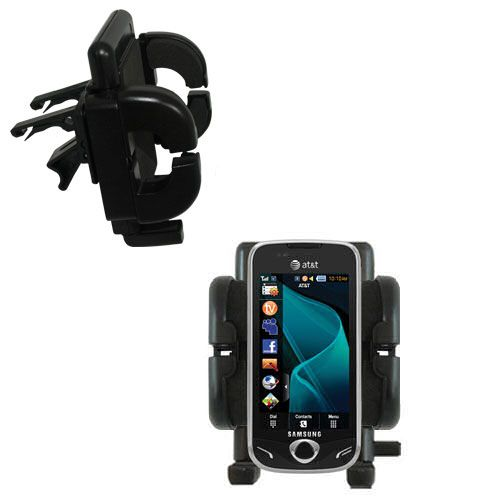 Gomadic Air Vent Clip Based Cradle Holder Car / Auto Mount suitable for the Samsung Mythic - Lifetime Warranty