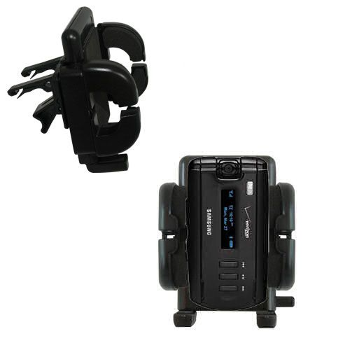Gomadic Air Vent Clip Based Cradle Holder Car / Auto Mount suitable for the Samsung SGH-A930 - Lifetime Warranty