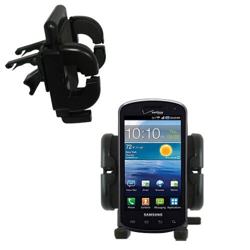 Gomadic Air Vent Clip Based Cradle Holder Car / Auto Mount suitable for the Samsung Stratosphere - Lifetime Warranty