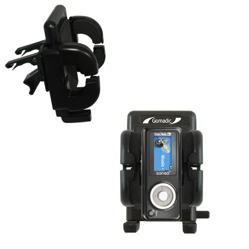 Gomadic Air Vent Clip Based Cradle Holder Car / Auto Mount suitable for the Sandisk Sansa c100 - Lifetime Warranty