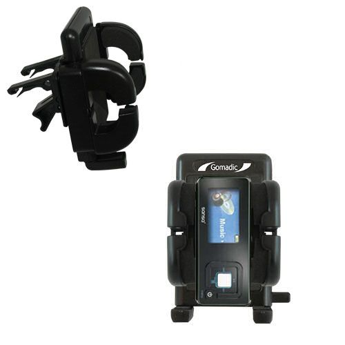 Gomadic Air Vent Clip Based Cradle Holder Car / Auto Mount suitable for the Sandisk Sansa c240 - Lifetime Warranty