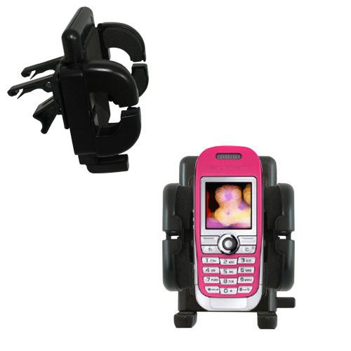 Gomadic Air Vent Clip Based Cradle Holder Car / Auto Mount suitable for the Sony Ericsson J300c - Lifetime Warranty