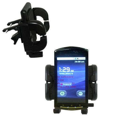 Gomadic Air Vent Clip Based Cradle Holder Car / Auto Mount suitable for the Sony Ericsson LT15i - Lifetime Warranty