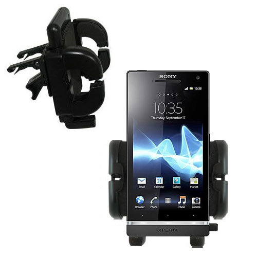 Gomadic Air Vent Clip Based Cradle Holder Car / Auto Mount suitable for the Sony Ericsson Xperia S - Lifetime Warranty
