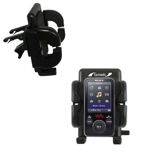 Gomadic Air Vent Clip Based Cradle Holder Car / Auto Mount suitable for the Sony Walkman NWZ-E438F - Lifetime Warranty