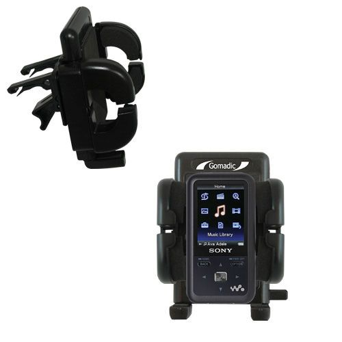 Gomadic Air Vent Clip Based Cradle Holder Car / Auto Mount suitable for the Sony Walkman NWZ-S616 - Lifetime Warranty