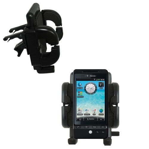 Gomadic Air Vent Clip Based Cradle Holder Car / Auto Mount suitable for the T-Mobile G2 - Lifetime Warranty