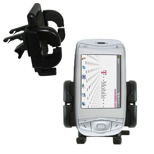 Gomadic Air Vent Clip Based Cradle Holder Car / Auto Mount suitable for the T-Mobile MDA IV - Lifetime Warranty