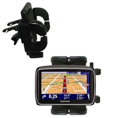Gomadic Air Vent Clip Based Cradle Holder Car / Auto Mount suitable for the TomTom 740 - Lifetime Warranty