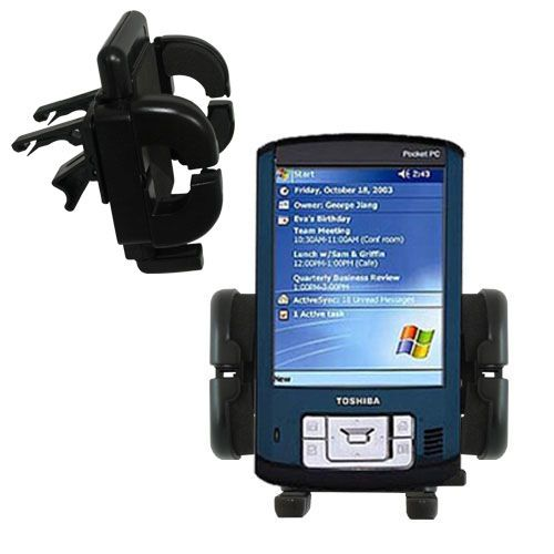 Gomadic Air Vent Clip Based Cradle Holder Car / Auto Mount suitable for the Toshiba e805 - Lifetime Warranty