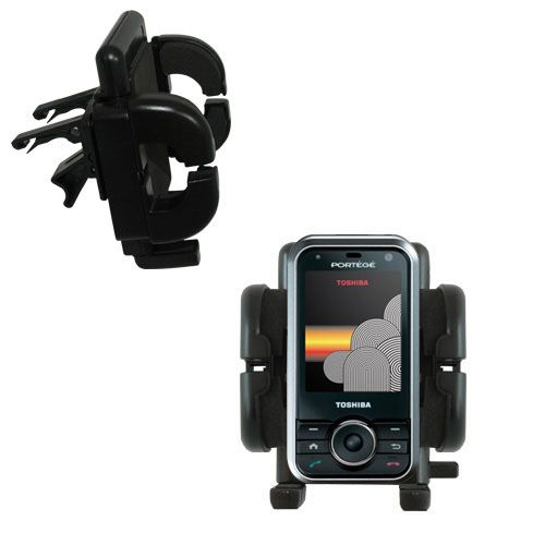 Gomadic Air Vent Clip Based Cradle Holder Car / Auto Mount suitable for the Toshiba G500 - Lifetime Warranty