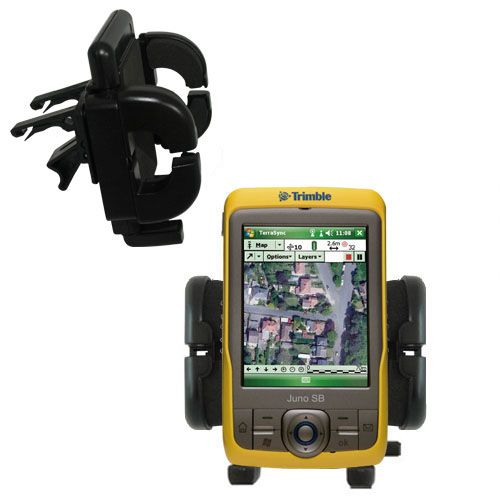 Gomadic Air Vent Clip Based Cradle Holder Car / Auto Mount suitable for the Trimble Juno SB - Lifetime Warranty