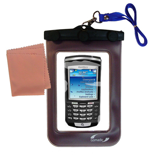 Gomadic clean and dry waterproof protective case suitablefor the Blackberry 7100x  to use underwater - Unique Floating Design