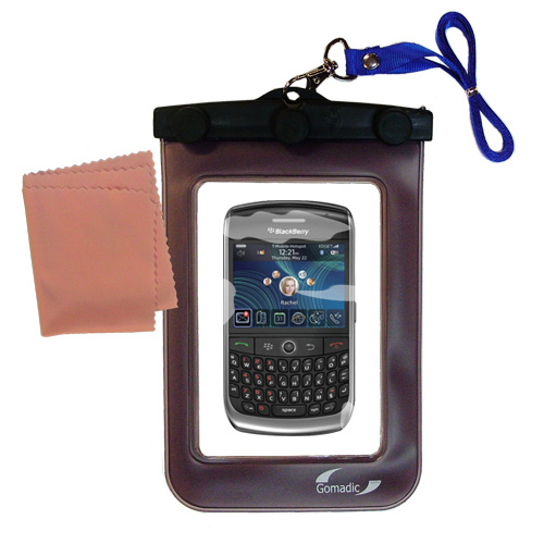 Gomadic clean and dry waterproof protective case suitablefor the Blackberry 8900  to use underwater - Unique Floating Design