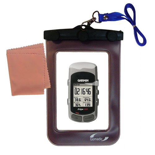 Gomadic clean and dry waterproof protective case suitablefor the Garmin Edge 305  to use underwater - Unique Floating Design