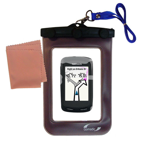 Gomadic clean and dry waterproof protective case suitablefor the Garmin Edge 800  to use underwater - Unique Floating Design