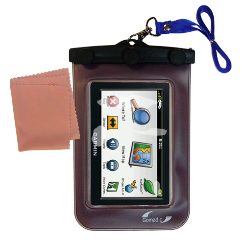 Gomadic clean and dry waterproof protective case suitablefor the Garmin Nuvi 2460 2450  to use underwater - Unique Floating Design