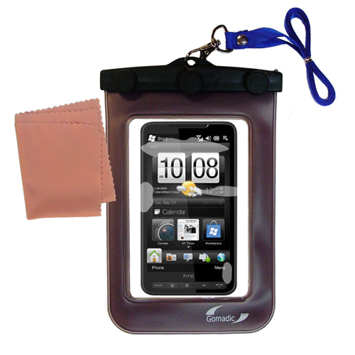 Gomadic clean and dry waterproof protective case suitablefor the HTC HD2  to use underwater - Unique Floating Design