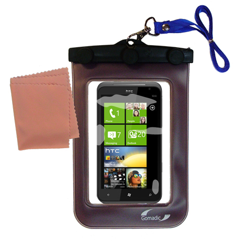 Gomadic clean and dry waterproof protective case suitablefor the HTC Titan  to use underwater - Unique Floating Design