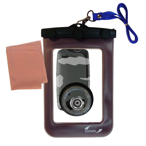 Waterproof Camera Case compatible with the Kodak PlaySport Pocket Video Camera