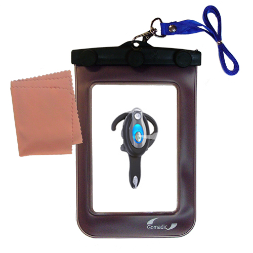 Gomadic clean and dry waterproof protective case suitablefor the Motorola HS850  to use underwater - Unique Floating Design