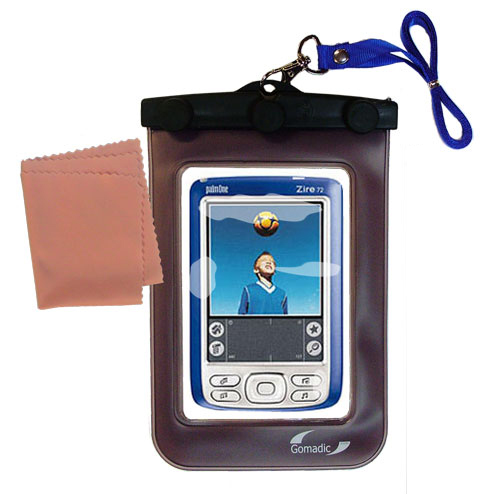 Gomadic clean and dry waterproof protective case suitablefor the Palm palm Zire 72s  to use underwater - Unique Floating Design