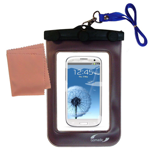 Gomadic clean and dry waterproof protective case suitablefor the Samsung Galaxy S III  to use underwater - Unique Floating Design