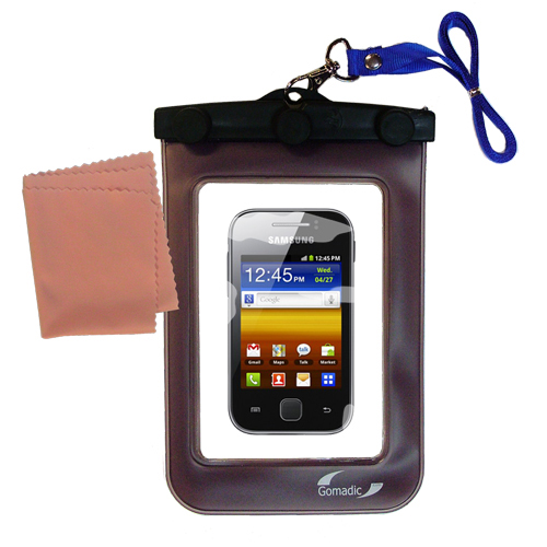 Waterproof Case compatible with the Samsung Galaxy Y to use underwater