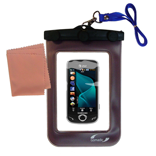 Gomadic clean and dry waterproof protective case suitablefor the Samsung Mythic  to use underwater - Unique Floating Design