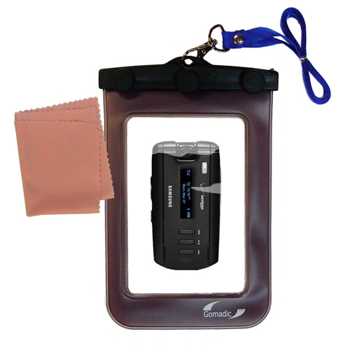 Waterproof Case compatible with the Samsung SGH-A930 to use underwater