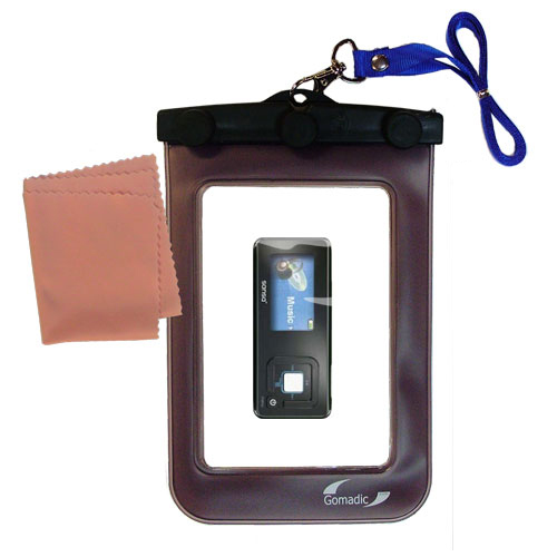 Waterproof Case compatible with the Sandisk Sansa c240 to use underwater