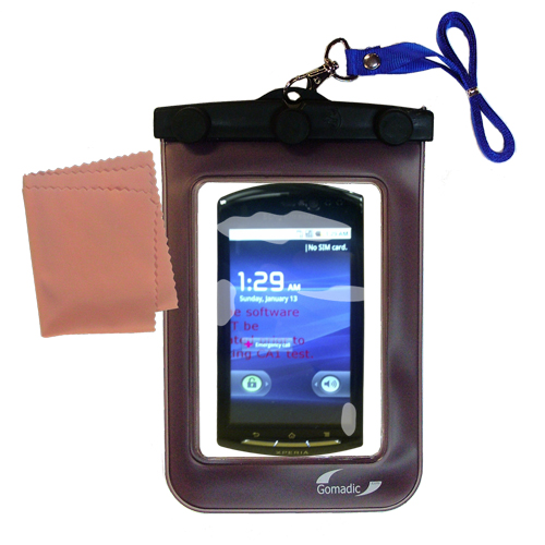 Gomadic clean and dry waterproof protective case suitablefor the Sony Ericsson LT15i  to use underwater - Unique Floating Design