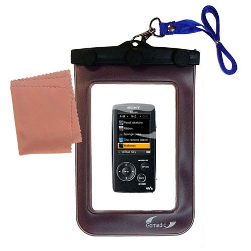 Gomadic clean and dry waterproof protective case suitablefor the Sony Walkman NWZ-A805  to use underwater - Unique Floating Design