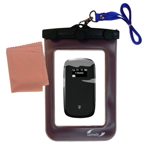 Gomadic clean and dry waterproof protective case suitablefor the T-Mobile 4G Mobile Hotspot  to use underwater - Unique Floating Design
