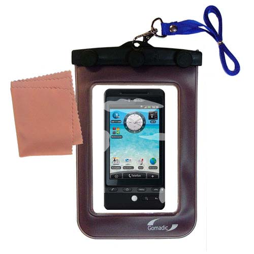 Gomadic clean and dry waterproof protective case suitablefor the T-Mobile G2  to use underwater - Unique Floating Design