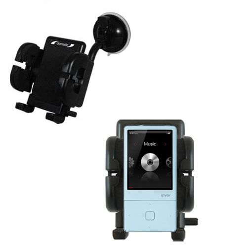 Gomadic Brand Flexible Car Auto Windshield Holder Mount designed for the iRiver E300 - Gooseneck Suction Cup Style Cradle