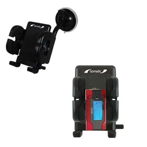 Gomadic Brand Flexible Car Auto Windshield Holder Mount designed for the iRiver T30 - Gooseneck Suction Cup Style Cradle