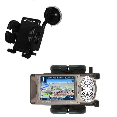 Windshield Holder compatible with the Navman iCN 650