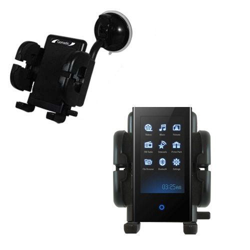 Gomadic Brand Flexible Car Auto Windshield Holder Mount designed for the Samsung S5 - Gooseneck Suction Cup Style Cradle