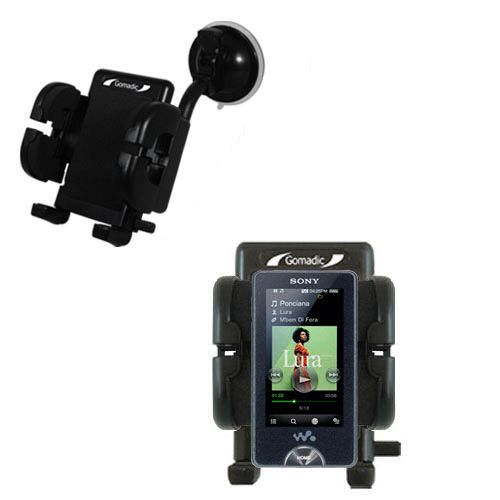 Gomadic Brand Flexible Car Auto Windshield Holder Mount designed for the Sony X Series - Gooseneck Suction Cup Style Cradle