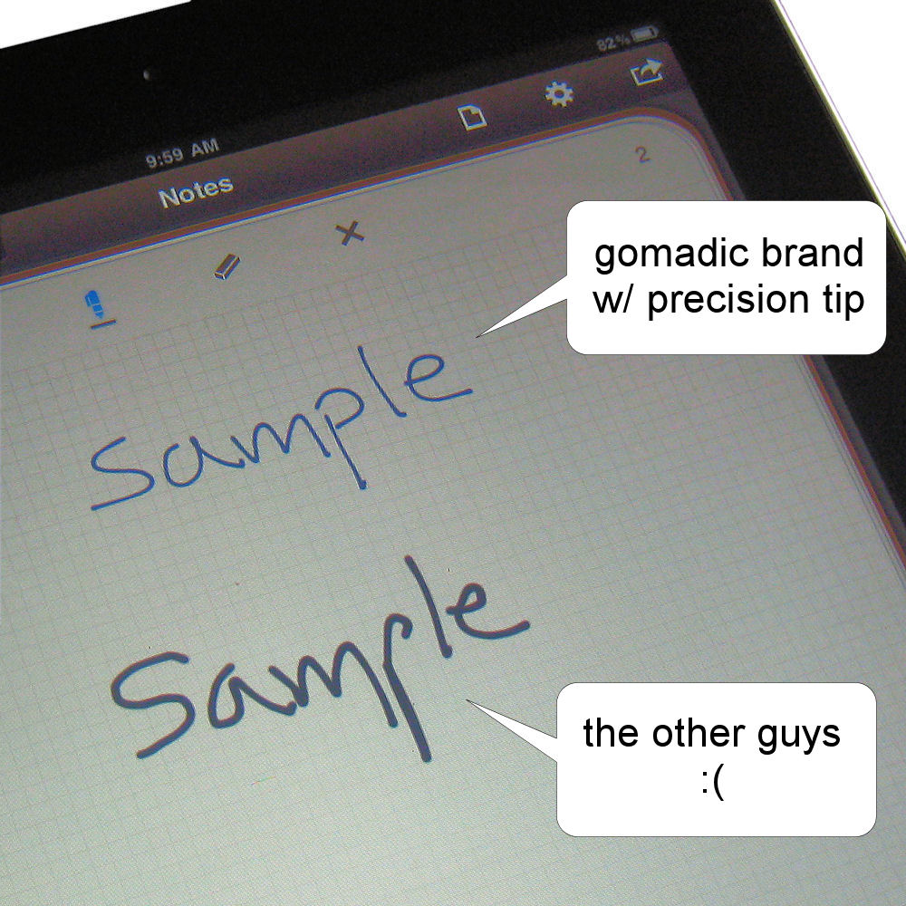 Gomadic Precision Tip Capacitive Stylus Pen designed for the HTC Titan (Black Color) - Lifetime Warranty